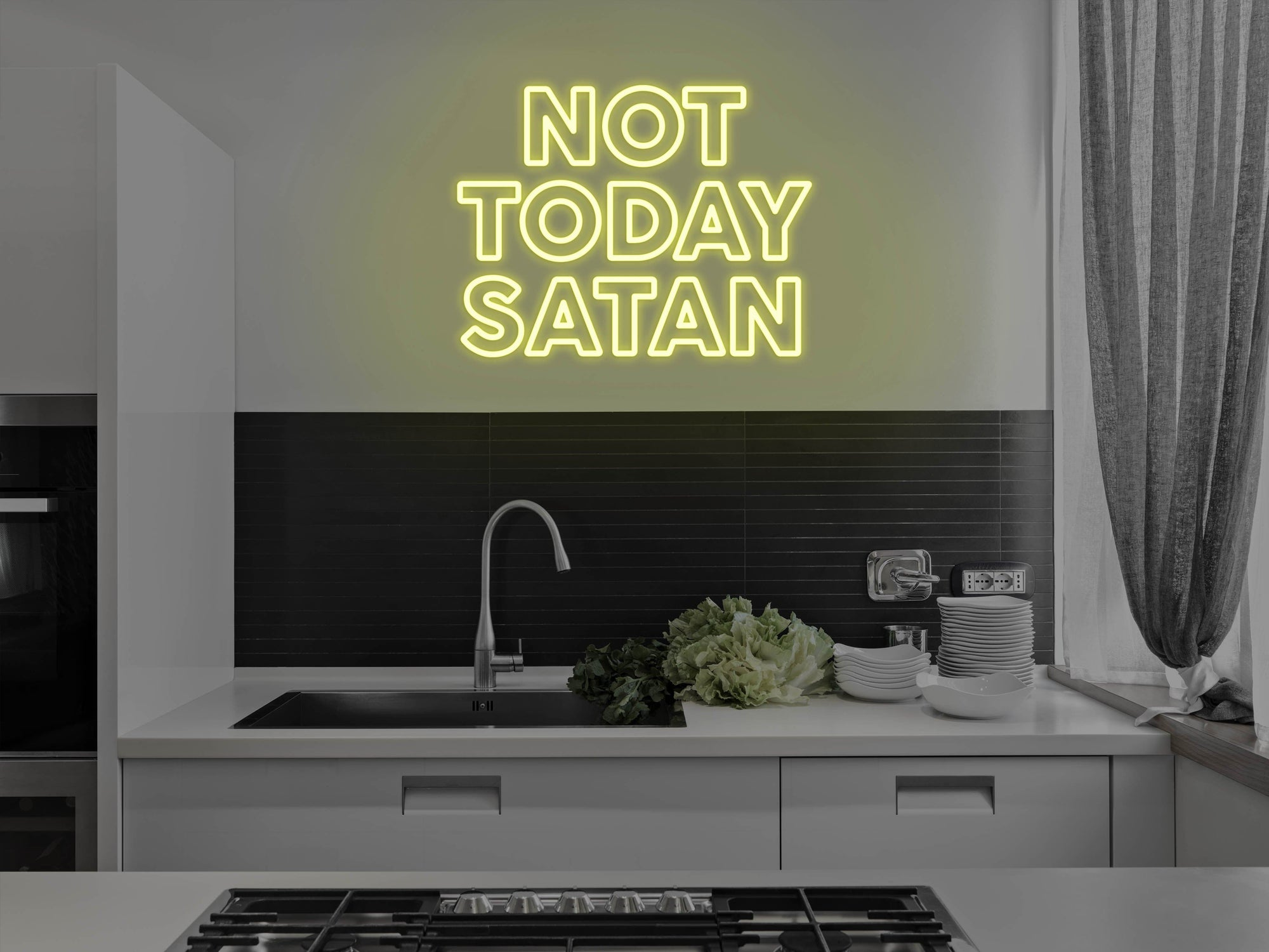 Not Today Satan LED Neon Sign