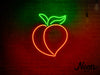 Peach LED Sign