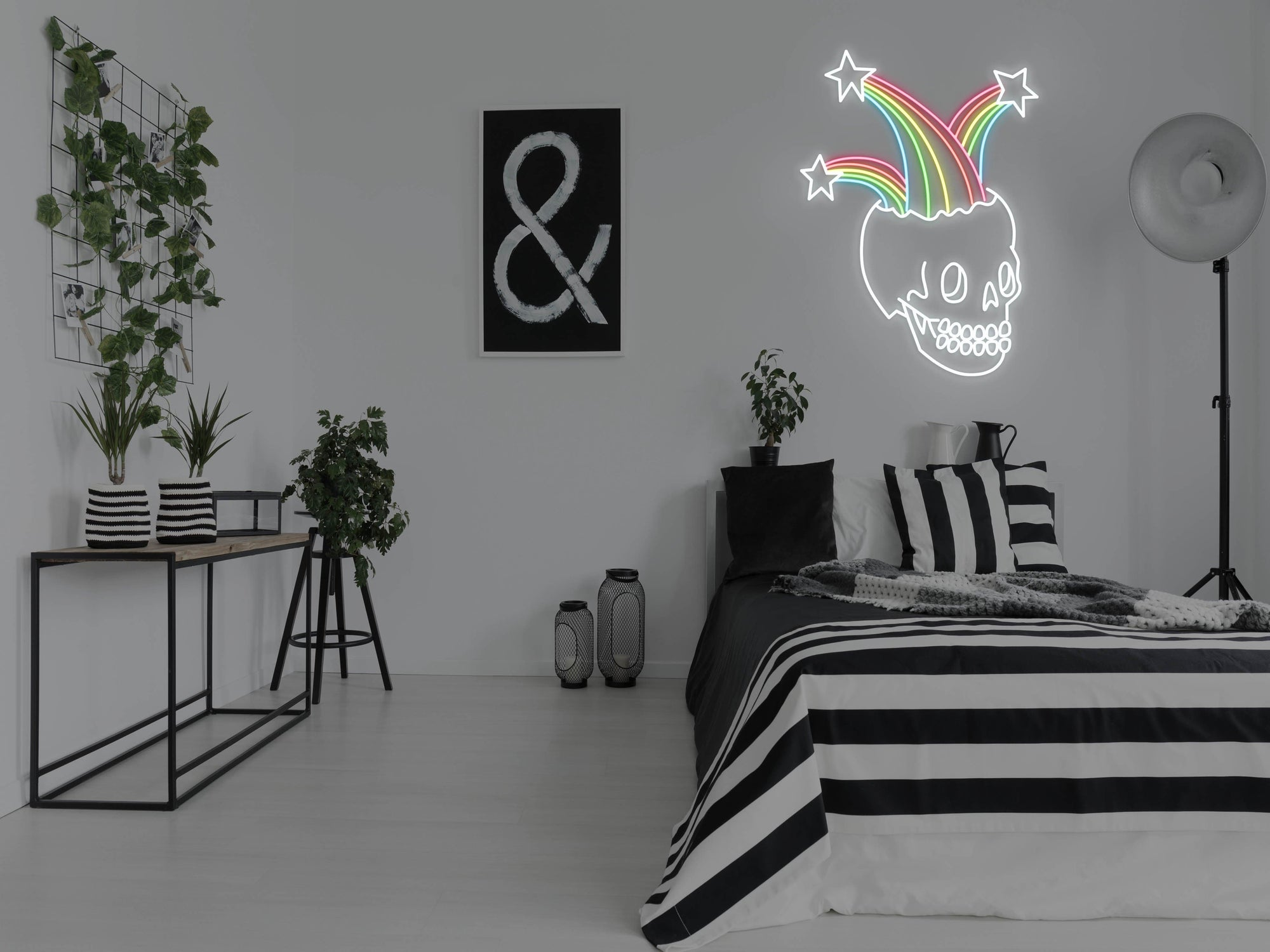 Rainbow Skull LED Neon Sign