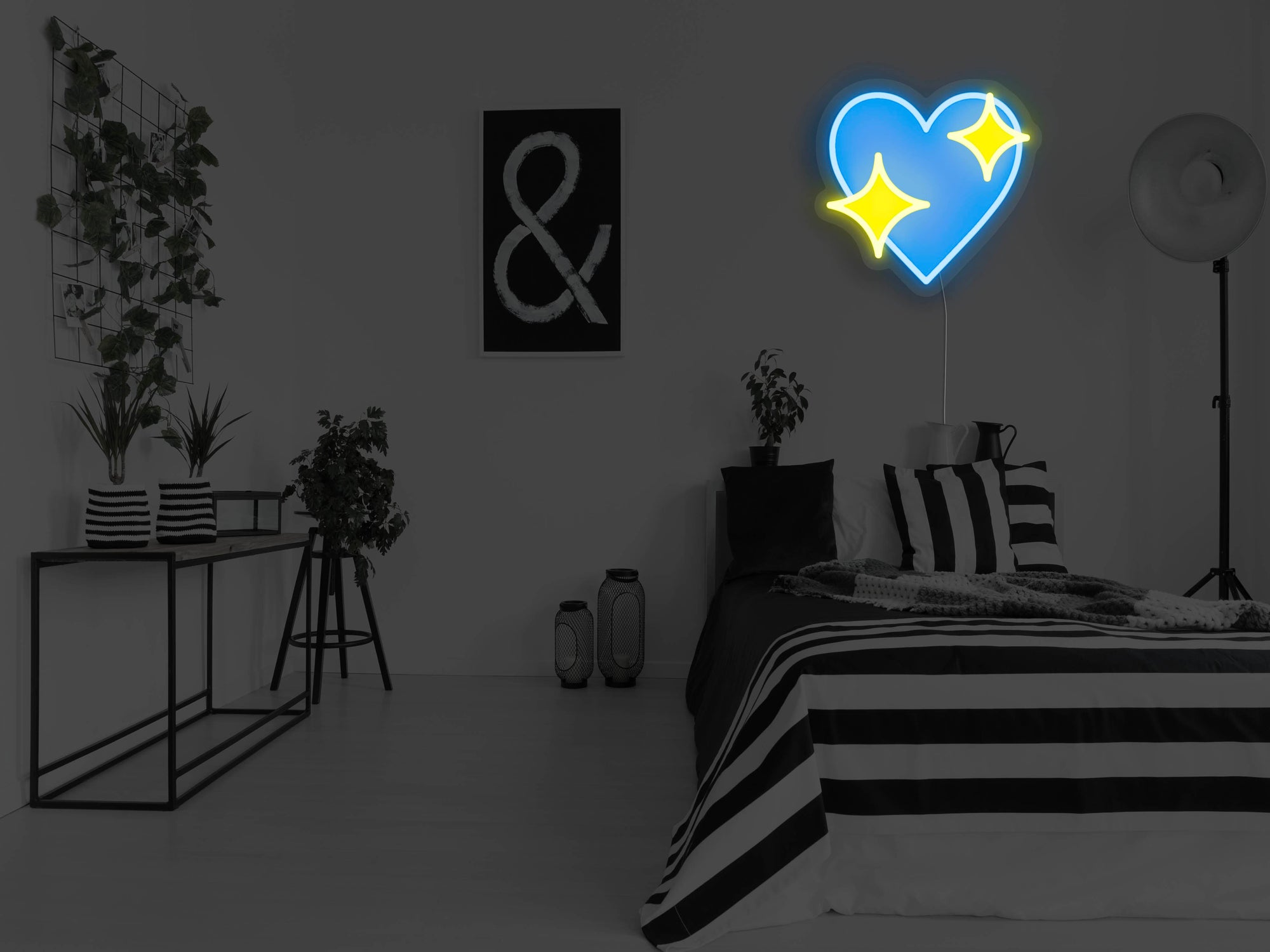 Sparkle Heart LED Neon Sign