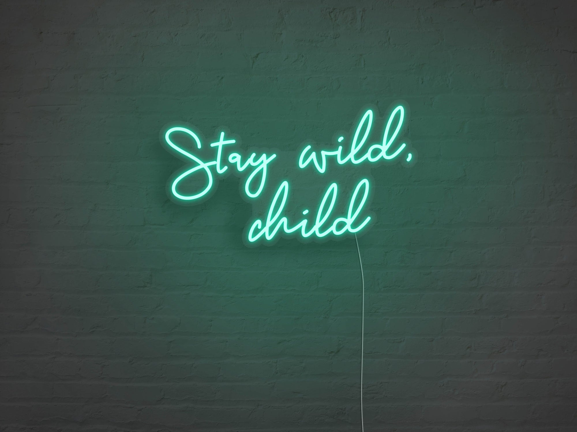 Stay Wild Child LED Neon Sign