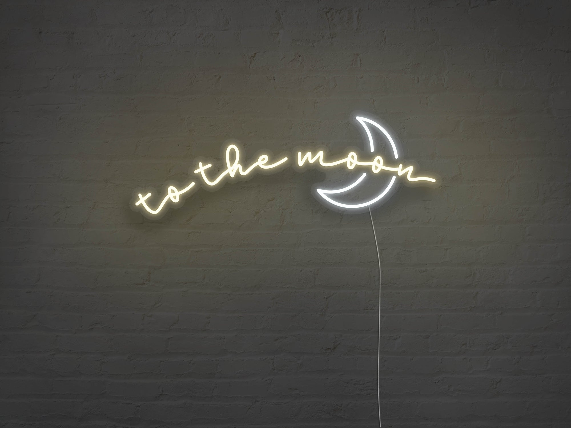 To The Moon LED Neon Sign