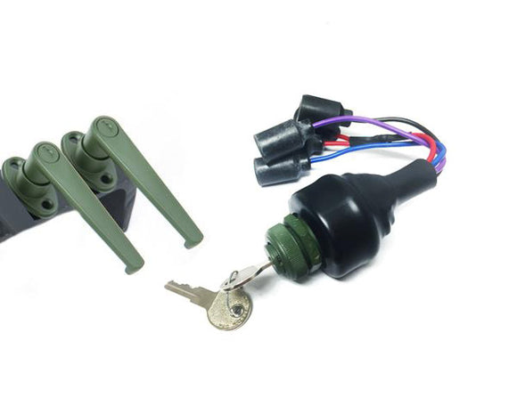 LOCKING DOOR HANDLES & IGNITION SWITCH SWITCH - KEYED ALIKE - 4 PLUG