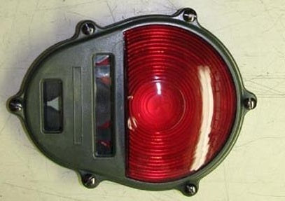 military tail light lens