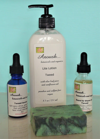Anoush botanicals and organics Tweed Set
