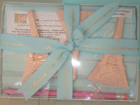 Anoush botanicals and organics Eiffel Tower Soap Gift Box