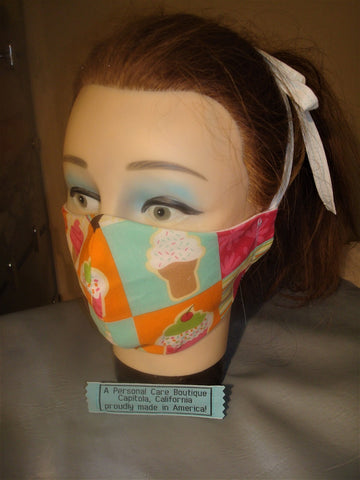 accessory ~ mask face candy, ice cream, cupcake