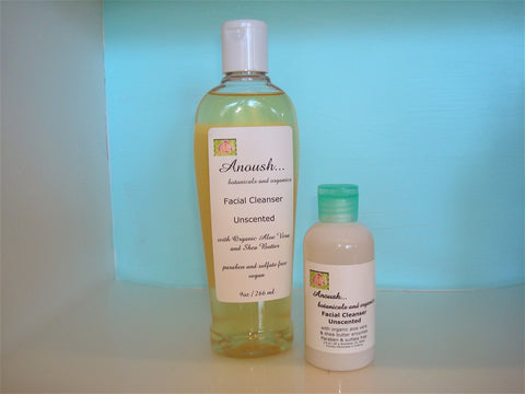 Anoush botanicals and organics Facial Cleanser unscented