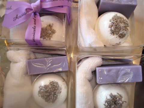 gift set ~ a boutique create your own box of seltzer, soap...