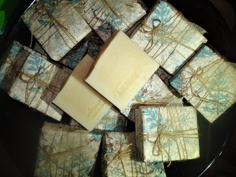 Anoush botanicals and organics Laurel Nice and Natural Soaps gift wrapped