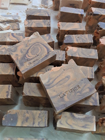 Anoush botanicals and organics Spa Soap Lavender Spice bar