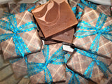 Anoush botanicals and organics Spa Soap Mocha Java Bars gift wrapped