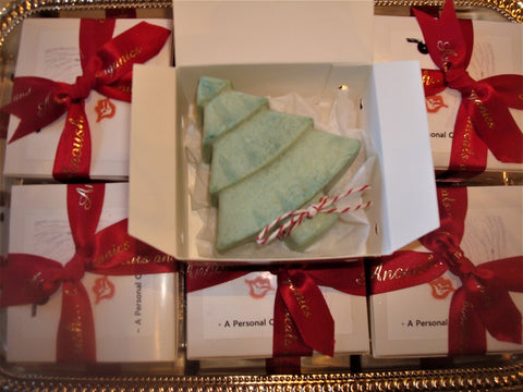 Anoush botanicals and organics Oh Christmas Tree Soaps wrapped