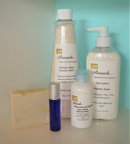 Anoush botanicals and organics Peachy Keen Personal Care Set