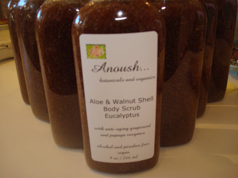 Anouch botanicals and organics Scrub Aloe Walnut Eucalyptus