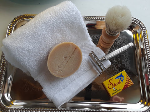 A Personal Care Boutique Shave Set old school soap razor brush