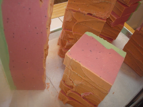 Anoush botanicals and organics SPecialty Beer Soap Watermelon bars