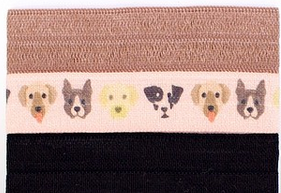 Mane Message hair ties dogs