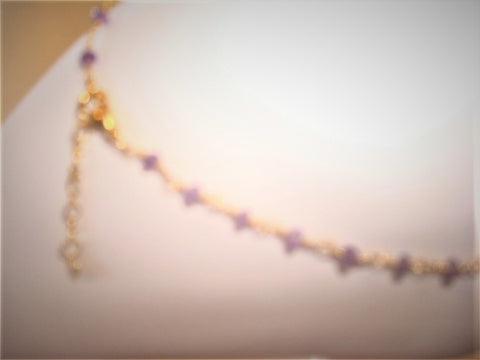 bling ~ anklet amethyst on gold