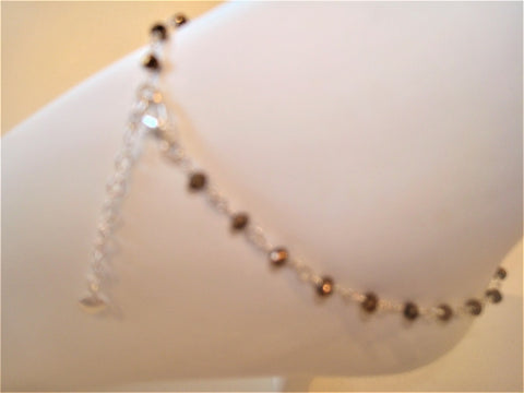 bling ~ anklet copper on silver