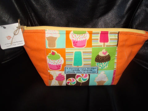 z bag ~ cupcake & ice cream with tangerine trapezoid 13...