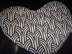 A Personal Care Boutique heart zipper pouch black and white back