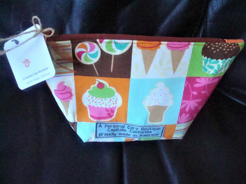 A Personal Care Boutique bag candy cupcake ice cream trapezoid front