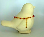 bling ~ anklet red on gold