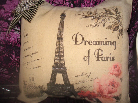 pillow dreaming of paris