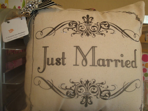 gift ~ pillow just married