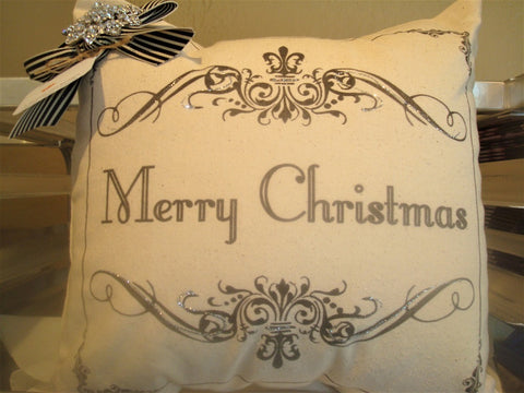 gift ~ pillow merry christmas