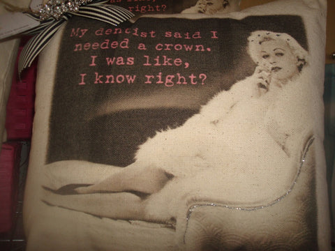 wardrobe ~ pillow ~ my dentist said i needed a crown...