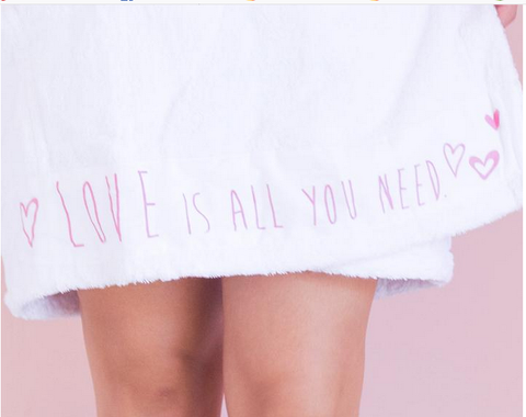 wardrobe ~ spa wrap love is all you need
