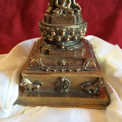 "Stupa 12"" Brass with 5 metals"