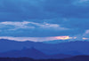 Tara Mandala Blank Greeting Card -  Blue Sunset Over Chimney Rock