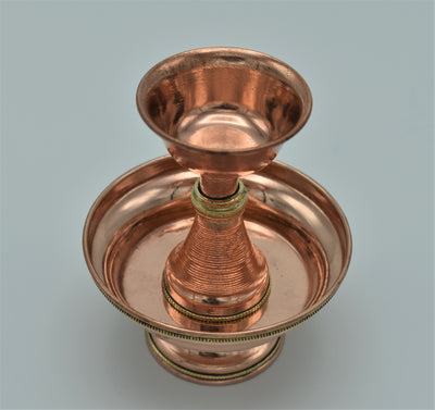 "Serkyem Set - Simple Copper - 5"" total height"