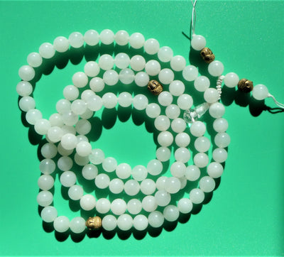 Handmade Full Mala - Milky Quartz - 108 beads