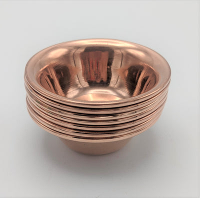 Individual Copper Offering Bowls