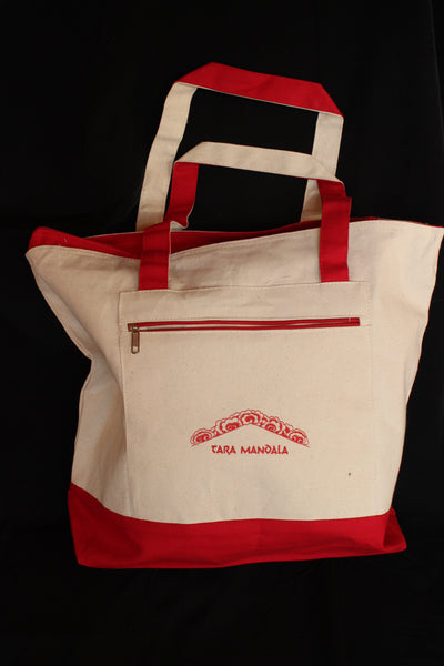 Tote - Machig Quote Canvas in Red