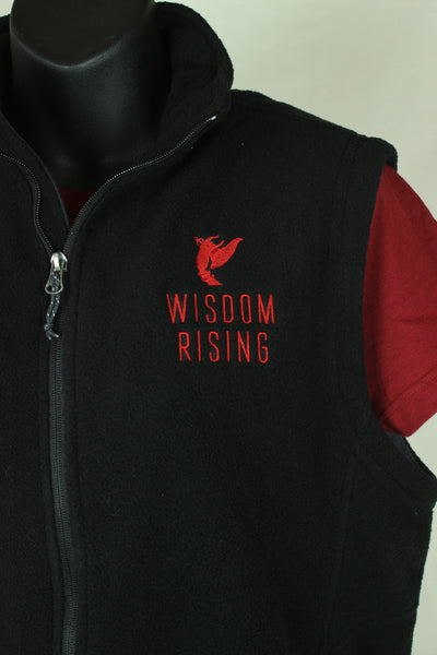 Wisdom Rising Fleece vest-black-unisex