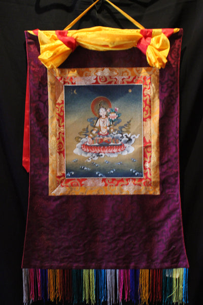 Thangka | White Tara Fringe