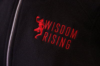 Wisdom Rising black fleece pullover-womens