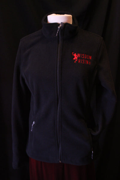 Wisdom Rising fleece jacket-black-womens