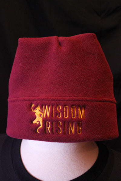 Wisdom Rising fleece hat-maroon