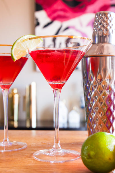 The Sexy and Classic Cosmopolitan Martini | Vesper & Vine | Celebrations and Cocktail Hour Essentials
