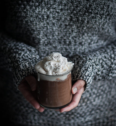 Vesper & Vine Gourmet Hot Chocolate Recipes London Fog with Mapled Whipped Cream