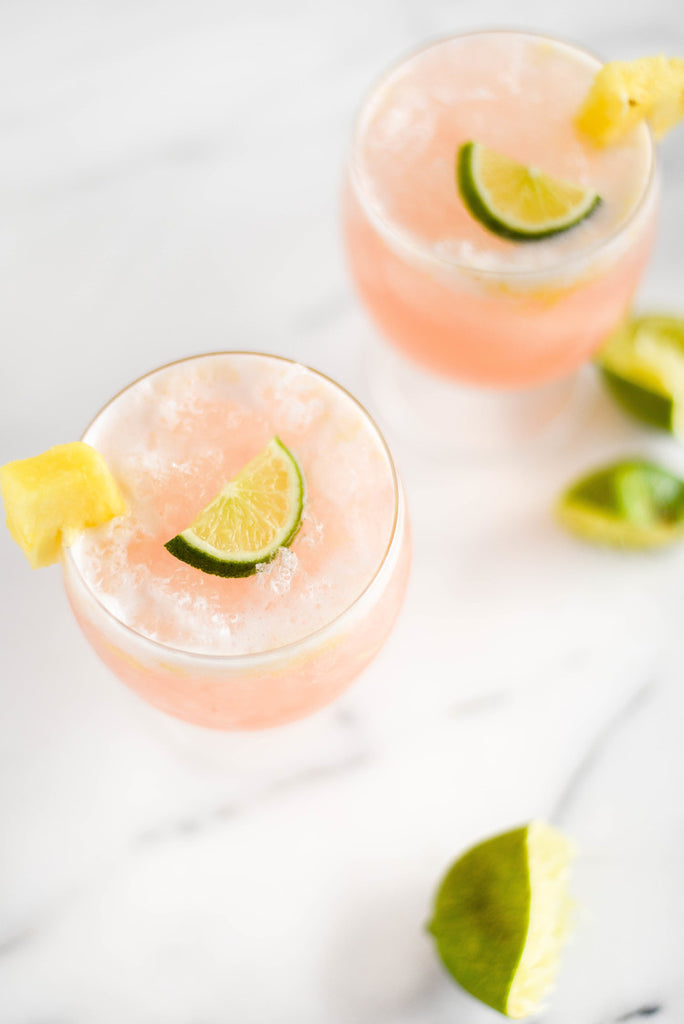 Guava Pineapple and Coconut Cocktail | Healthy Drinks and Low Calorie Cocktails | Vesper & Vine | Celebrations and Cocktail Hour Essentials