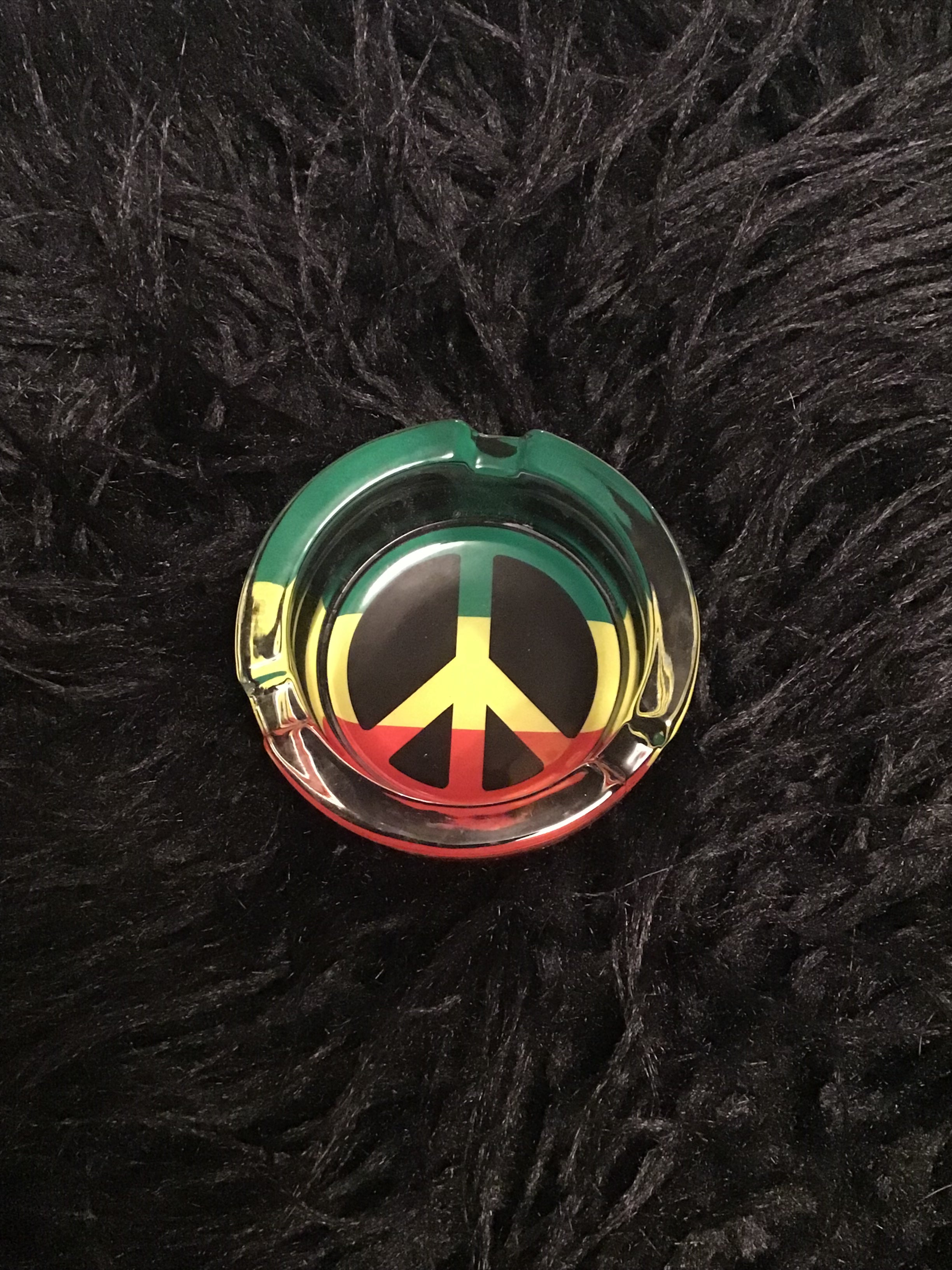 Glass Peace Sign Glow in the Dark Ashtray yoga, yoga smokes, tattoo, face, nails, nail, glass retail, online, web, weborder, website, tanks, lounge, odor, smoke shop near me, liquid smoke, smoke shop, lounge, smoke lounge, stoner, smoke, high, life, highlife, dabber, love, stoned, highsociety.