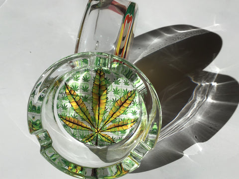 Leaf design Highest Quality Canna Durable Glass Ashtray yoga, yoga smokes, tattoo, face, nails, nail, glass retail, online, web, weborder, website, tanks, lounge, odor, smoke shop near me, liquid smoke, smoke shop, lounge, smoke lounge, stoner, smoke, high, life, highlife, dabber, love, stoned, highsociety.