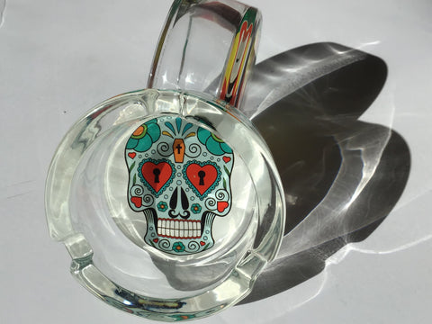 Skull Design Glass Ashtray Heart Eyes yoga, yoga smokes, tattoo, face, nails, nail, glass retail, online, web, weborder, website, tanks, lounge, odor, smoke shop near me, liquid smoke, smoke shop, lounge, smoke lounge, stoner, smoke, high, life, highlife, dabber, love, stoned, highsociety.